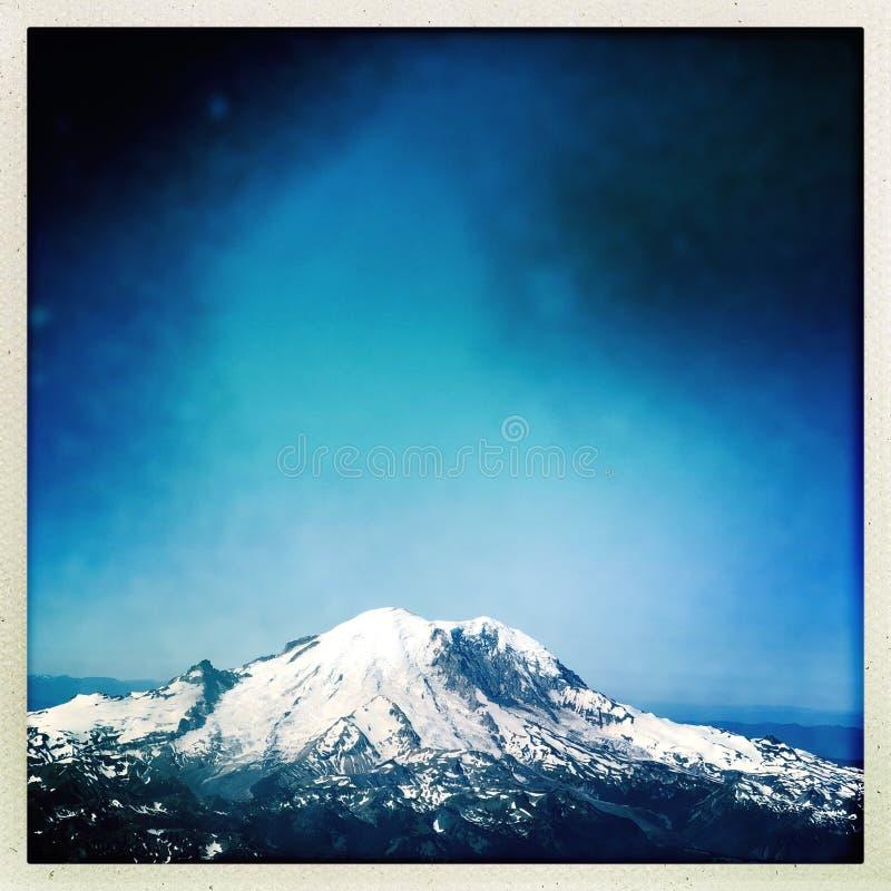 Dżdżysty szczyt Góra obraz royalty free
