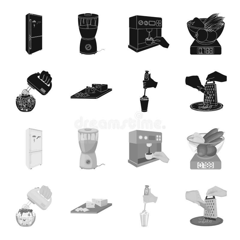 , dżem, dieta, akcesoria i inna sieci ikona w czarnym, monochromu styl kucharz, wyposażenie, urządzenie, ikony w secie ilustracji