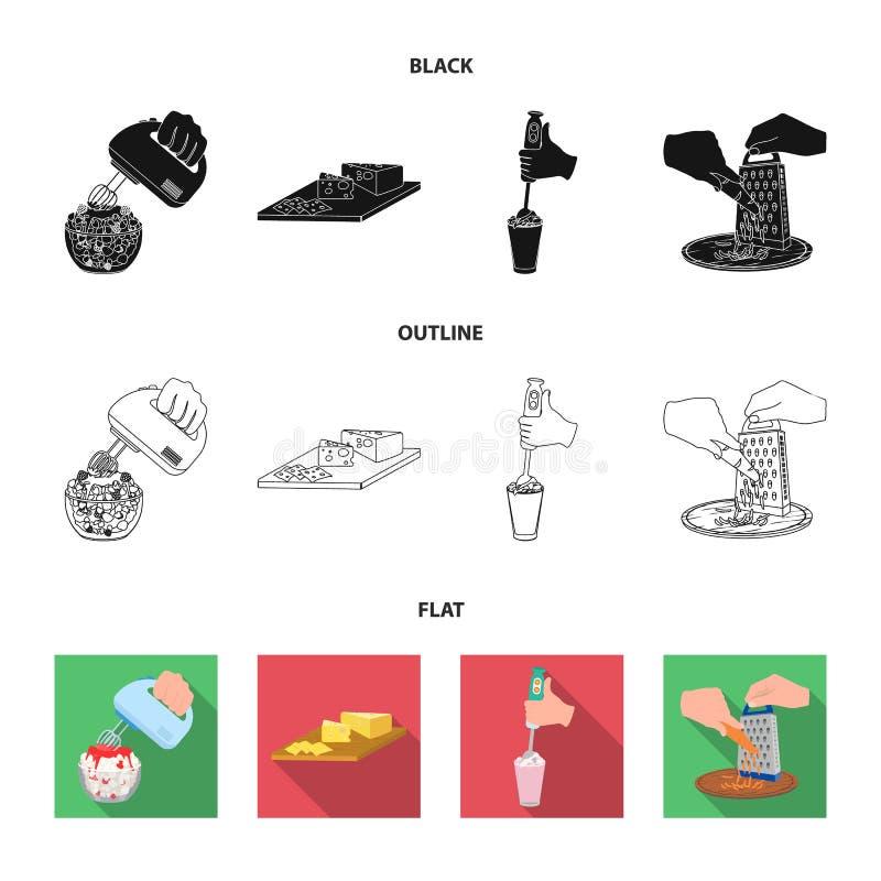 , dżem, dieta, akcesoria i inna sieci ikona w czarnym, płaski, konturu styl kucharz, wyposażenie, urządzenie, ikony w secie ilustracji