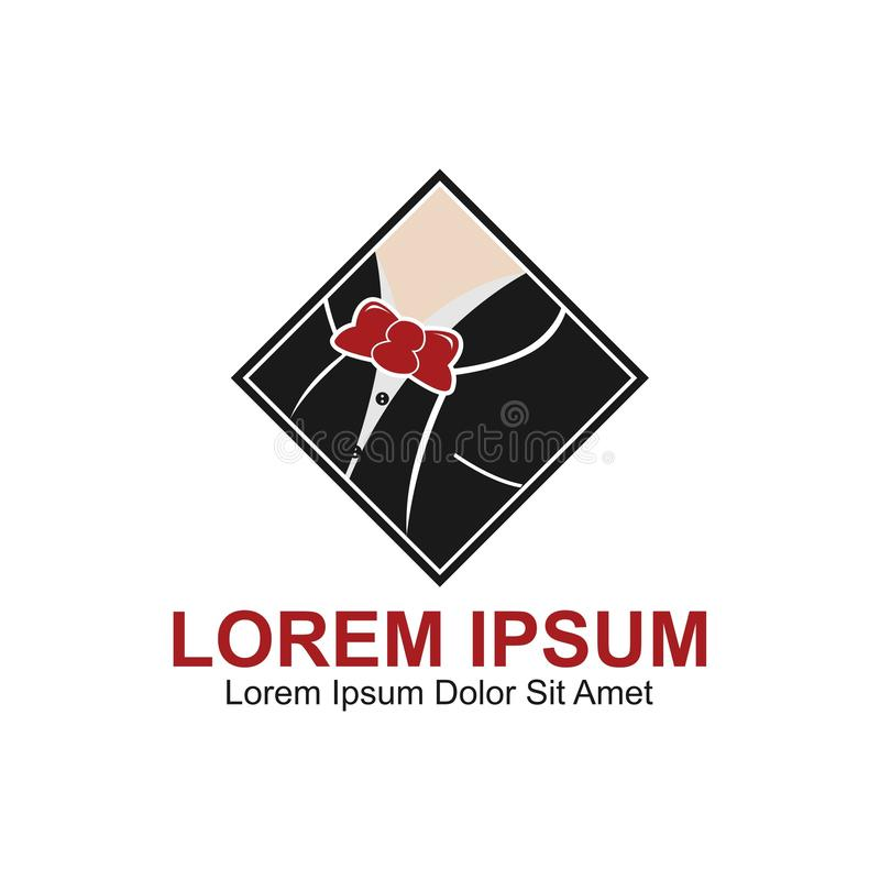 Dżentelmen mody logo ilustracji