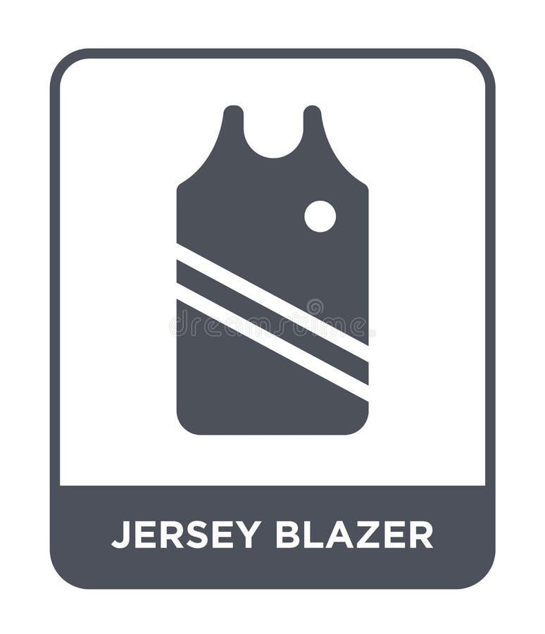 dżersejowa blezer ikona w modnym projekta stylu dżersejowa blezer ikona odizolowywająca na białym tle dżersejowego blezeru wektor ilustracji