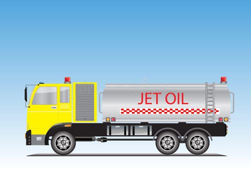 Dżetowa olej ciężarówka dla zmielonej lotnisko usługi ilustracja wektor