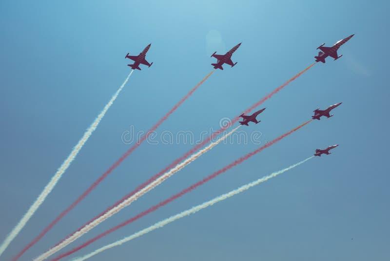Dżetowego samolotu formacja zdjęcie royalty free