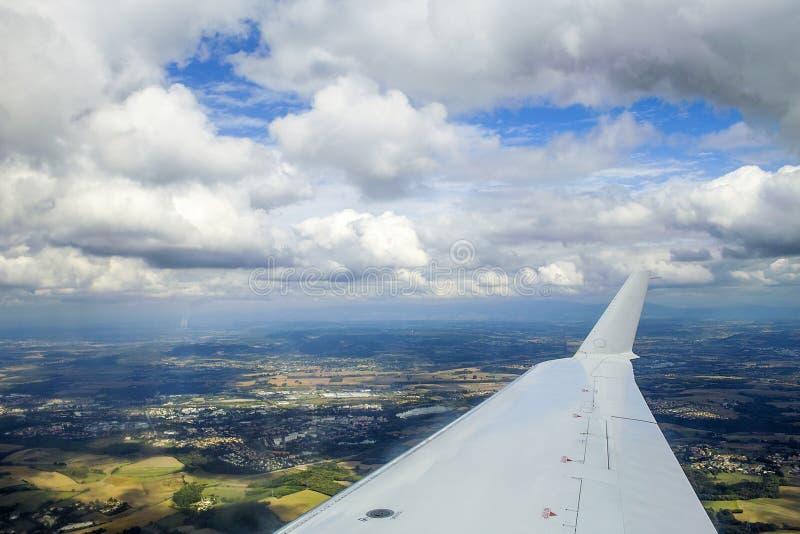 Dżetowego samolotu skrzydło zdjęcie royalty free