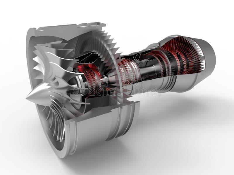 Dżetowego silnika sekci cięcie ilustracji