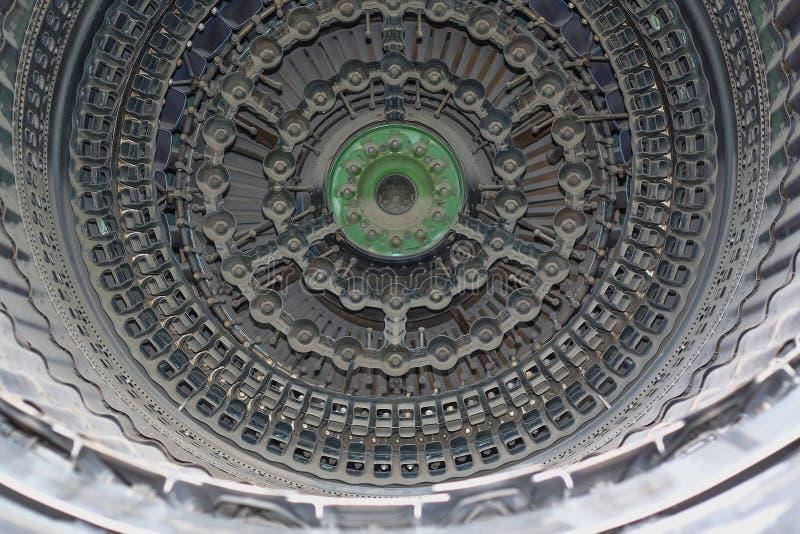Dżetowego silnika turbina zdjęcie royalty free