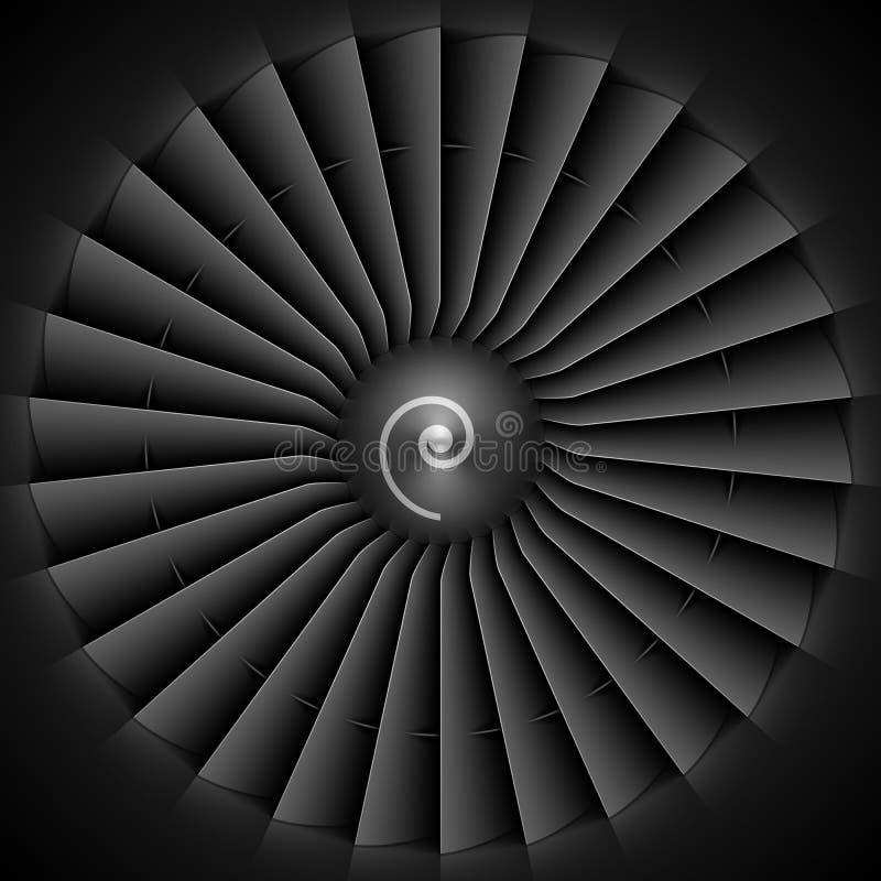 Dżetowego silnika turbinowi ostrza ilustracja wektor