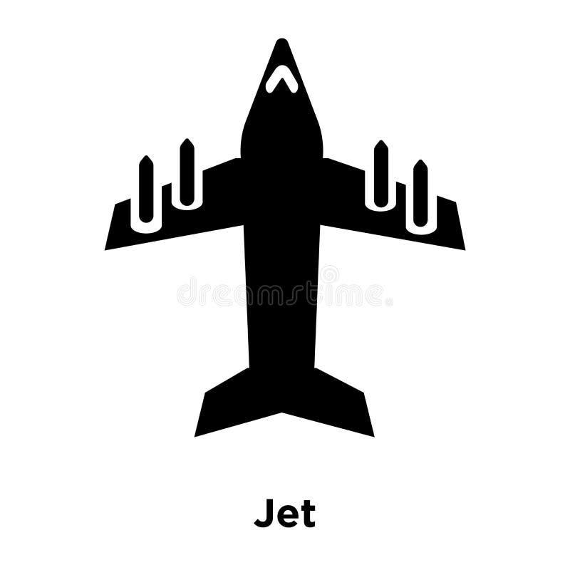 Dżetowy ikona wektor odizolowywający na białym tle, loga Je pojęcie ilustracji