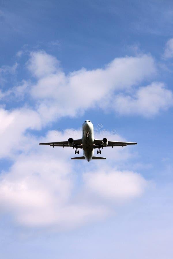 dżetowy lądowanie zdjęcie royalty free