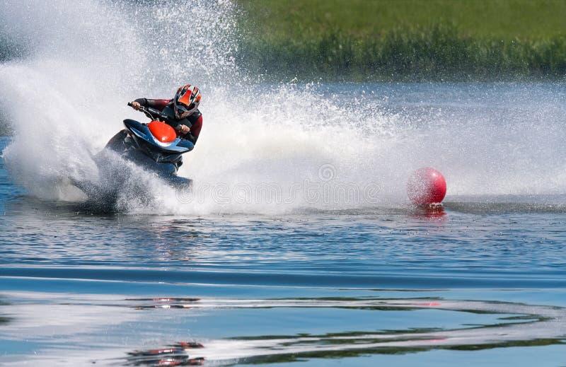 Dżetowy narciarski wodny sport zdjęcia stock