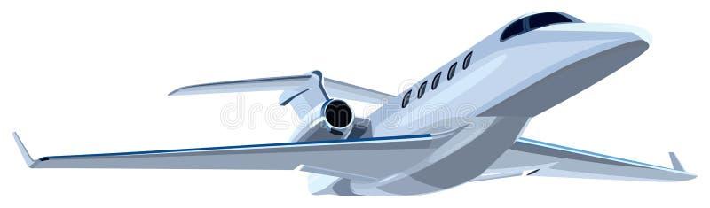 Dżetowy samolot ilustracja wektor