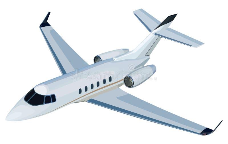 Dżetowy samolot royalty ilustracja