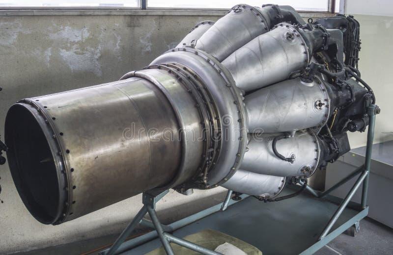 Dżetowy silnik z wieloskładnikowymi spalanie salami zdjęcie stock