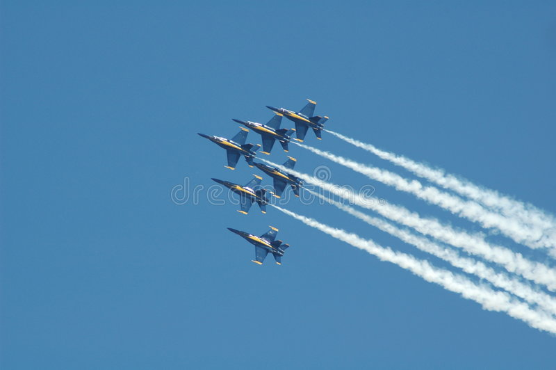 dżetowych show samolotów powietrza zdjęcie stock