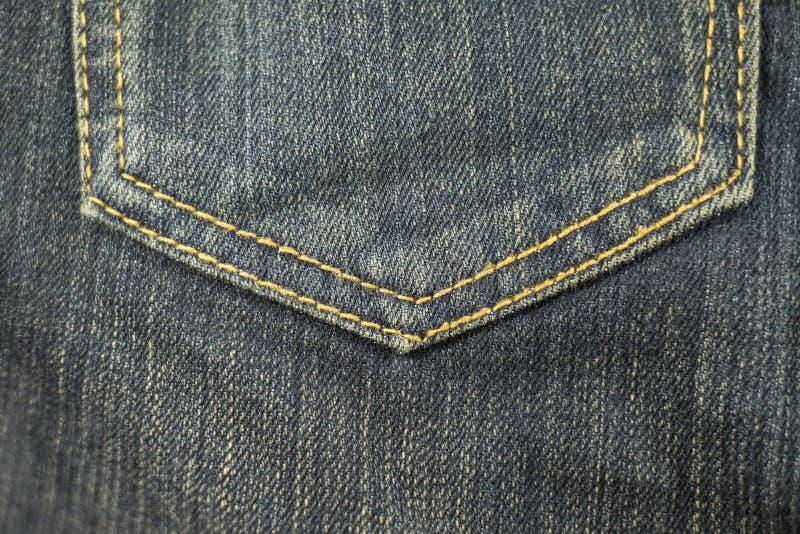 dżinsy pocketsem tekstury włókienniczą zdjęcia stock