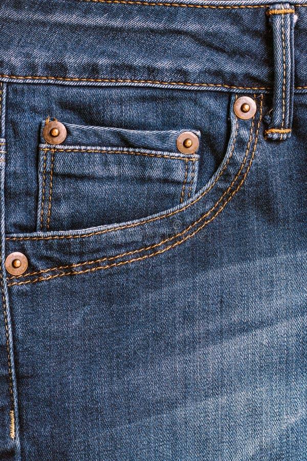 dżinsy pocketsem tekstury włókienniczą fotografia royalty free