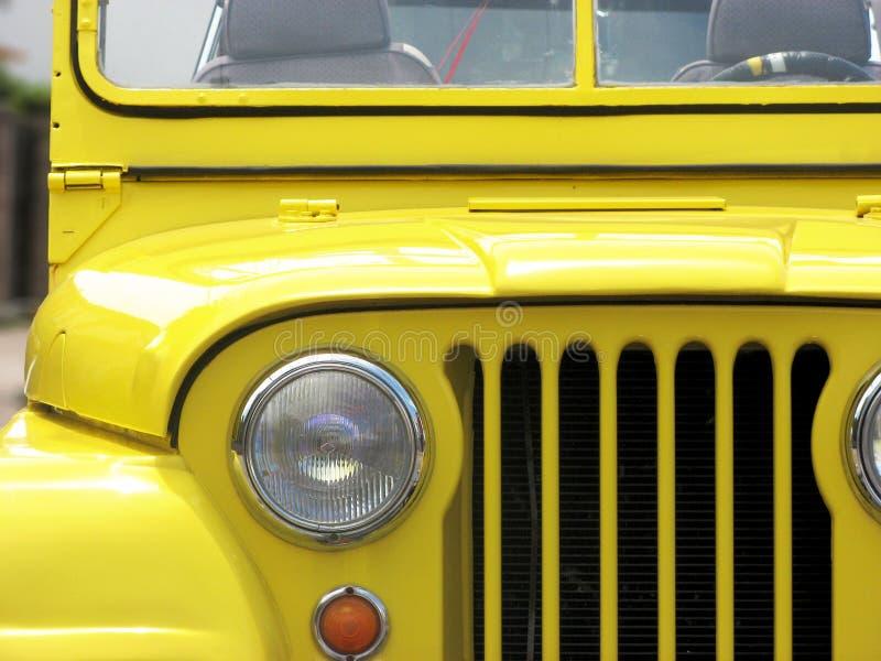 dżipa willys kolor żółty obrazy royalty free