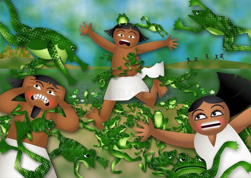 Dżuma żaby royalty ilustracja