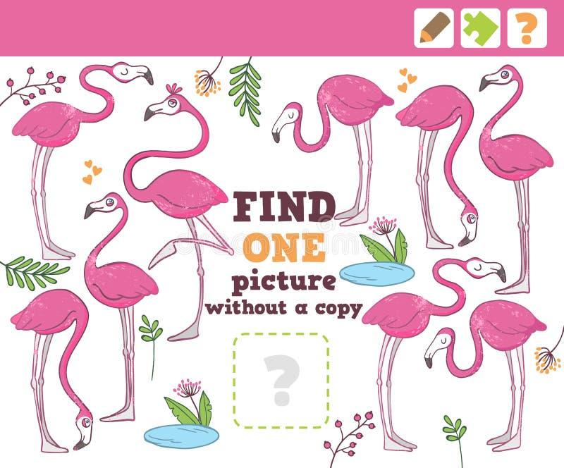 Dżungla Edukaci Odliczająca gra dla dzieci ilustracji
