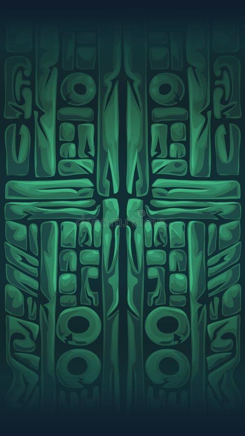Dżungla szamanów GUI mobilny tło royalty ilustracja