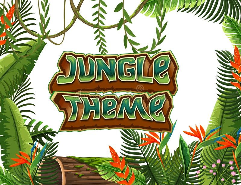Dżungla tematu szablon royalty ilustracja