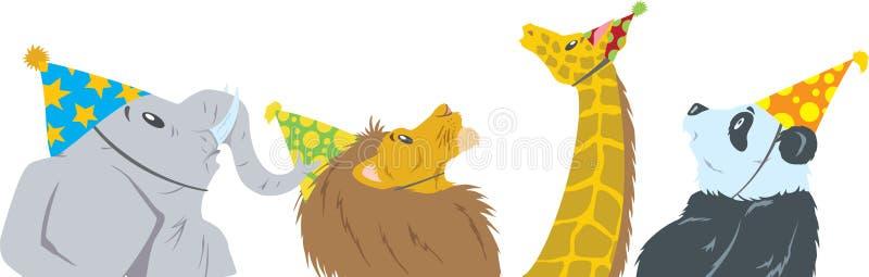 Dżungla urodziny royalty ilustracja
