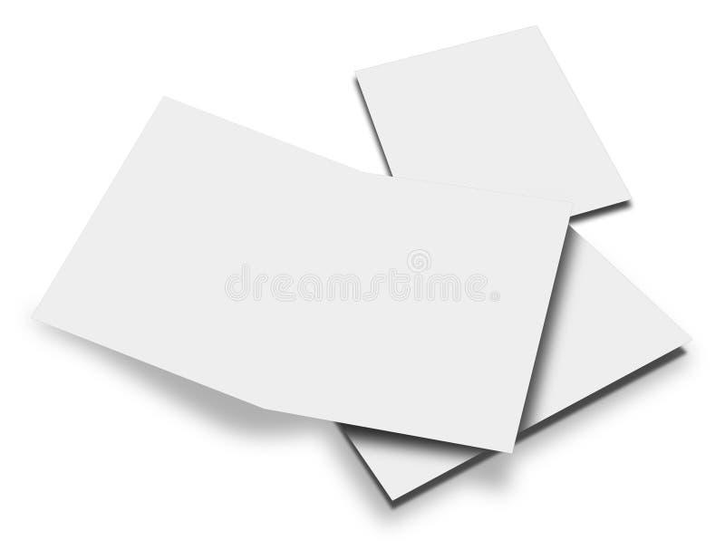 3d一个空白的小册子的翻译 库存例证