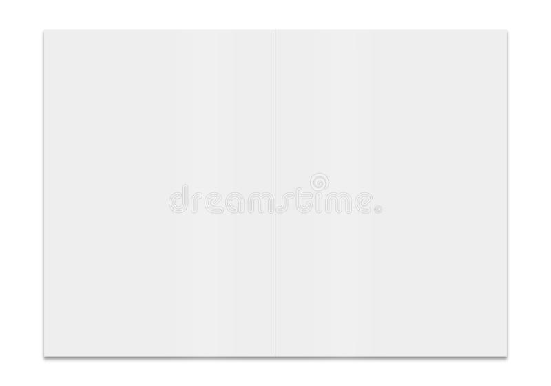 3d一个空白的小册子的翻译 向量例证
