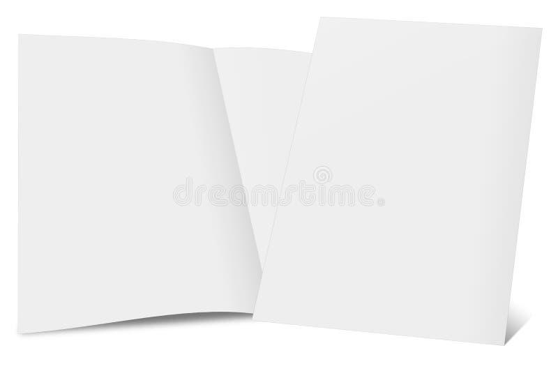 3d一个空白的小册子的翻译 皇族释放例证