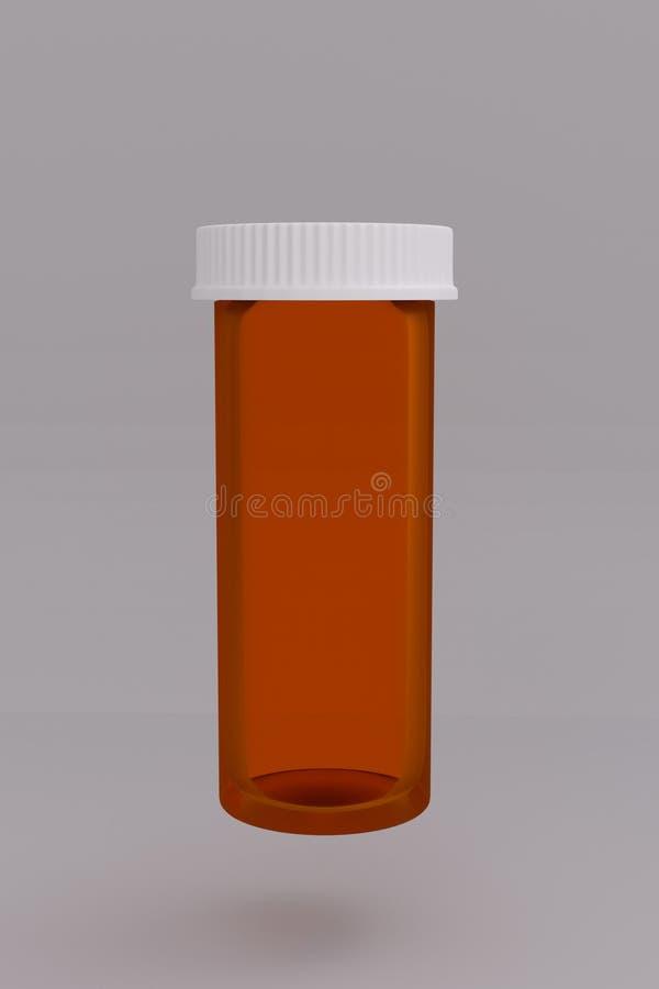 3D一个空的医疗药瓶的翻译 向量例证