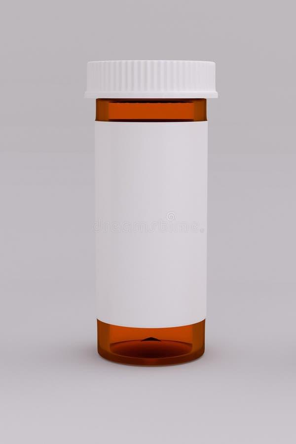 3D一个空的医疗药瓶的翻译 皇族释放例证