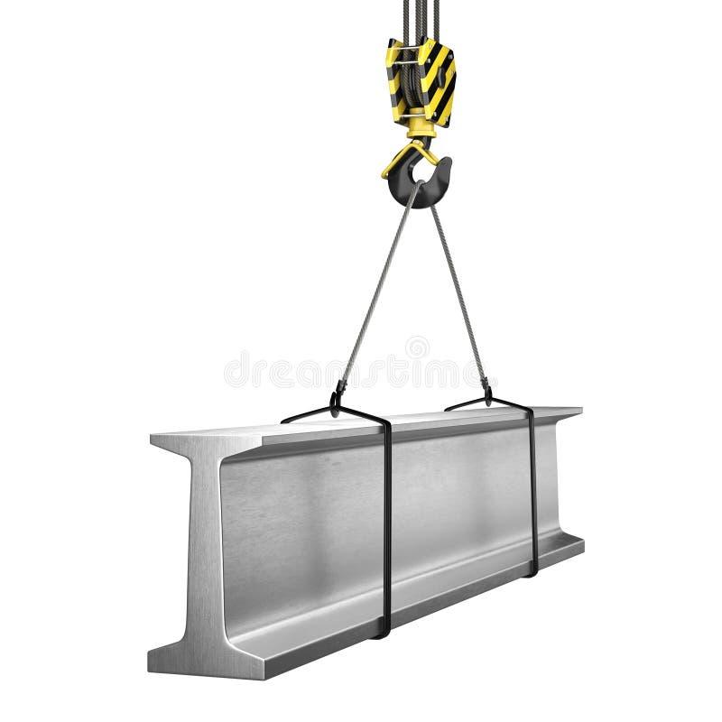 3D一个起重机勾子的翻译有装载的 向量例证