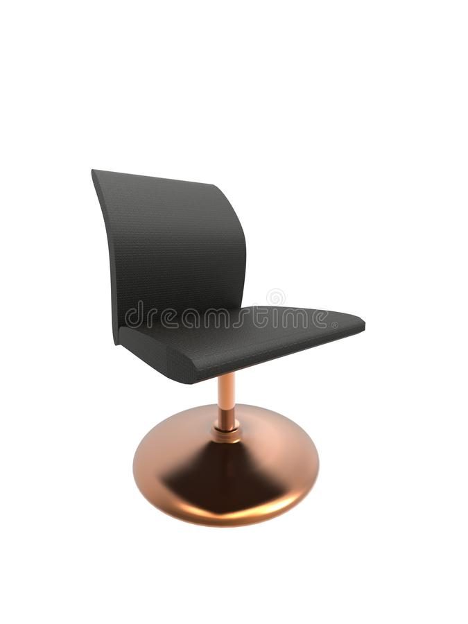 3D一把现代longue椅子的例证隔绝了 库存例证
