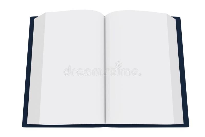 3D一本开放书的翻译在白色背景的 皇族释放例证