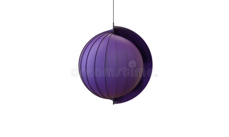 3d一盏现代吊灯的例证看起来被隔绝的海壳 向量例证