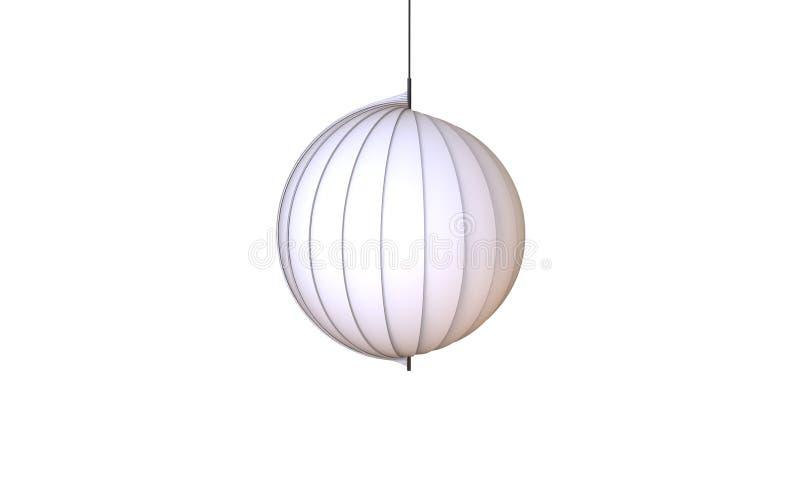 3d一盏现代吊灯的例证看起来被隔绝的海壳 皇族释放例证