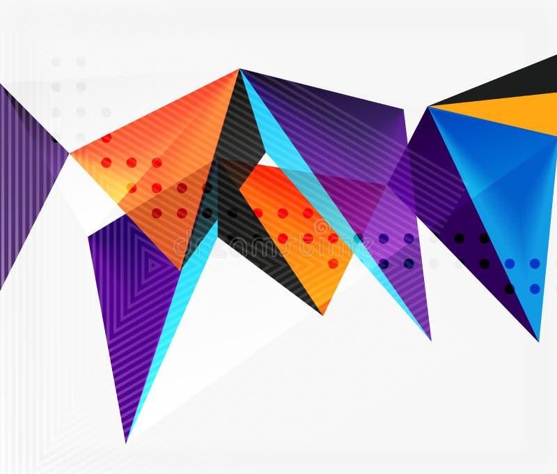3d三角几何传染媒介 库存例证