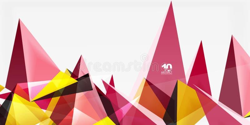 3d三角几何传染媒介 向量例证