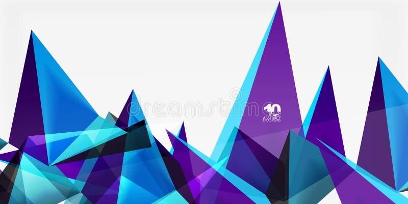 3d三角几何传染媒介 皇族释放例证