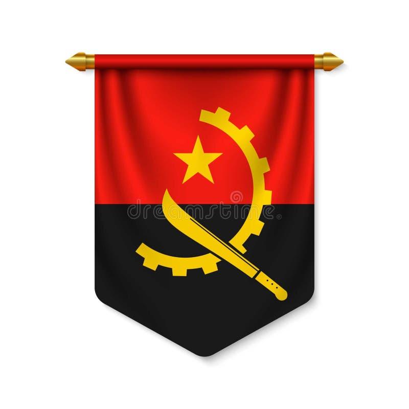 3d与旗子的现实信号旗 皇族释放例证