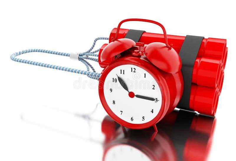 3d与时钟定时器的炸药炸弹 皇族释放例证