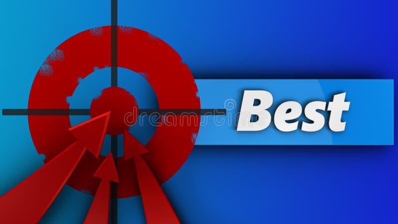 3d与最佳的标志的被绘的目标 向量例证