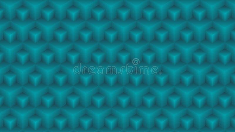 3D与梯度颜色和texure的看起来几何无缝的样式 库存例证
