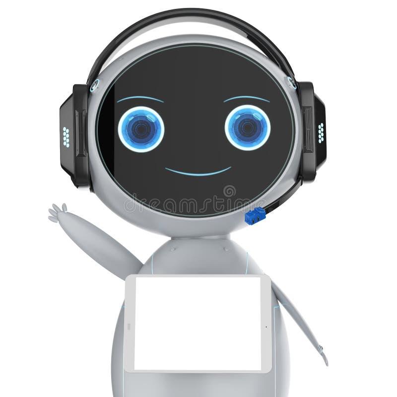 逗人喜爱的辅助机器人 皇族释放例证