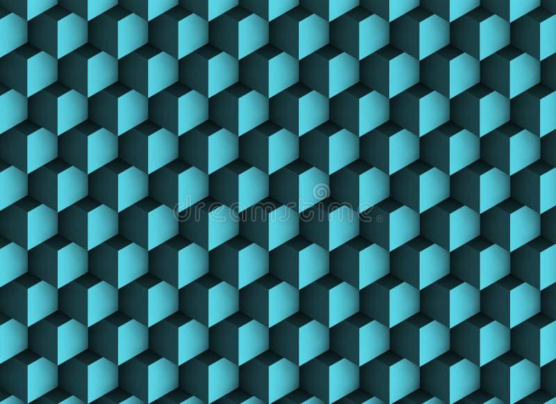 3d与阴影和立方体的纹理 向量例证