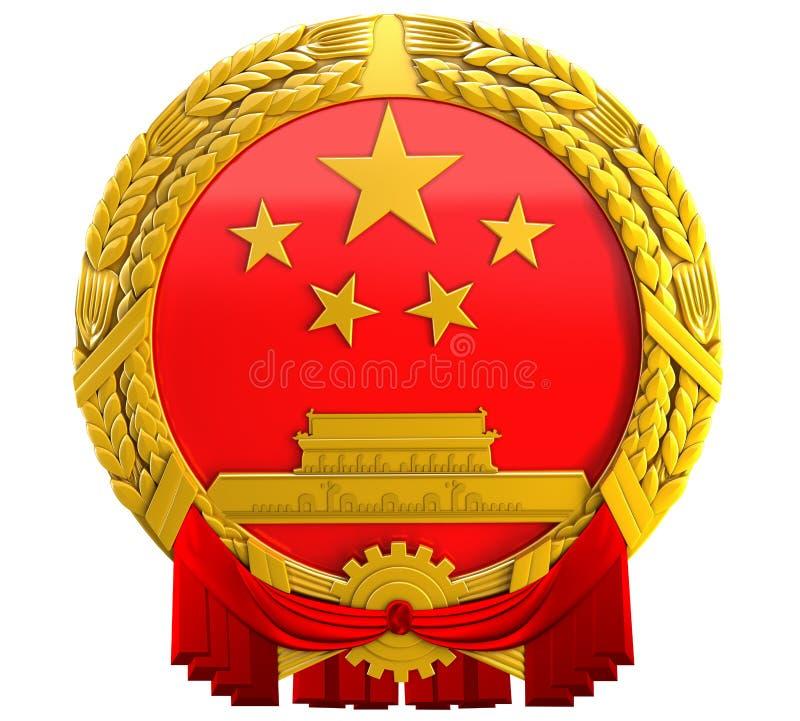 3D中国徽章 库存例证