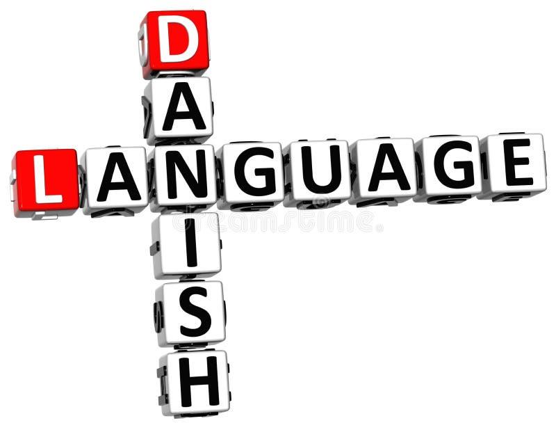 3D丹麦语言纵横填字谜 皇族释放例证