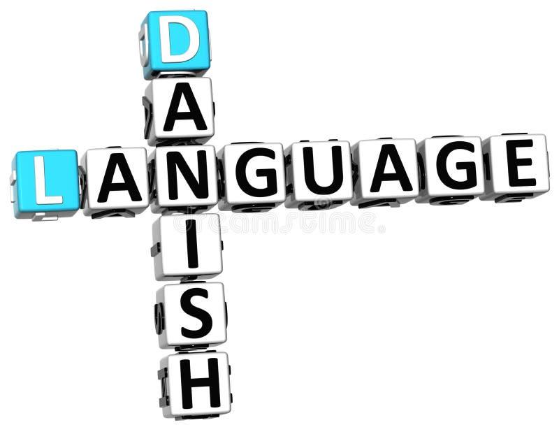 3D丹麦语言纵横填字谜 向量例证