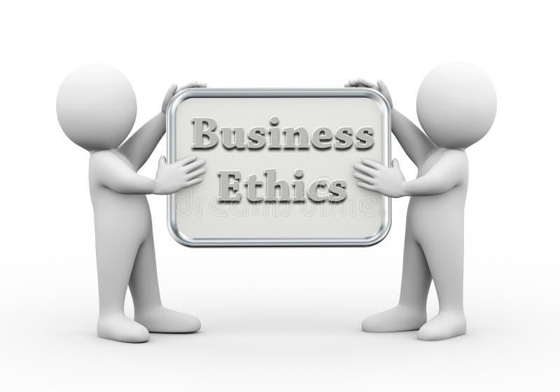 3d举行委员会商业道德的人们 库存例证