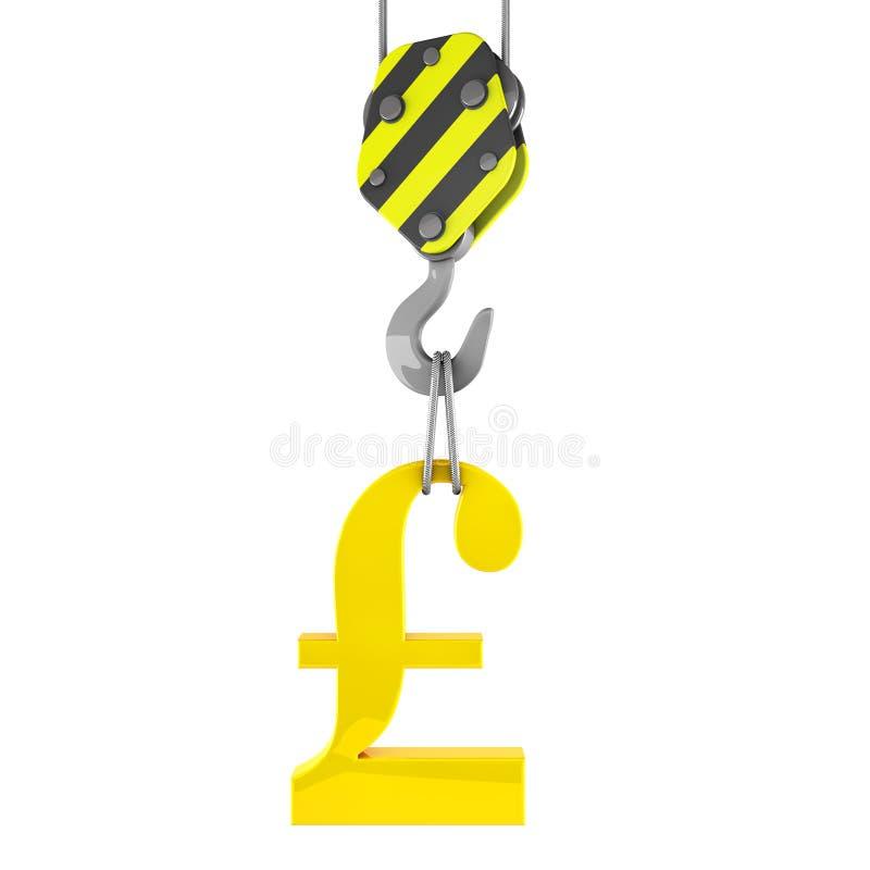Download 3d举金黄磅标志的建筑用起重机勾子 库存例证. 插画 包括有 设备, 免费, 推力, 链子, 水力, 建筑 - 30331104